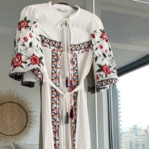 Zara embroidered swim coverup - Size S